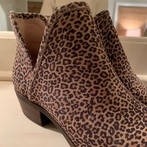 Lucky Brand cheetah booties